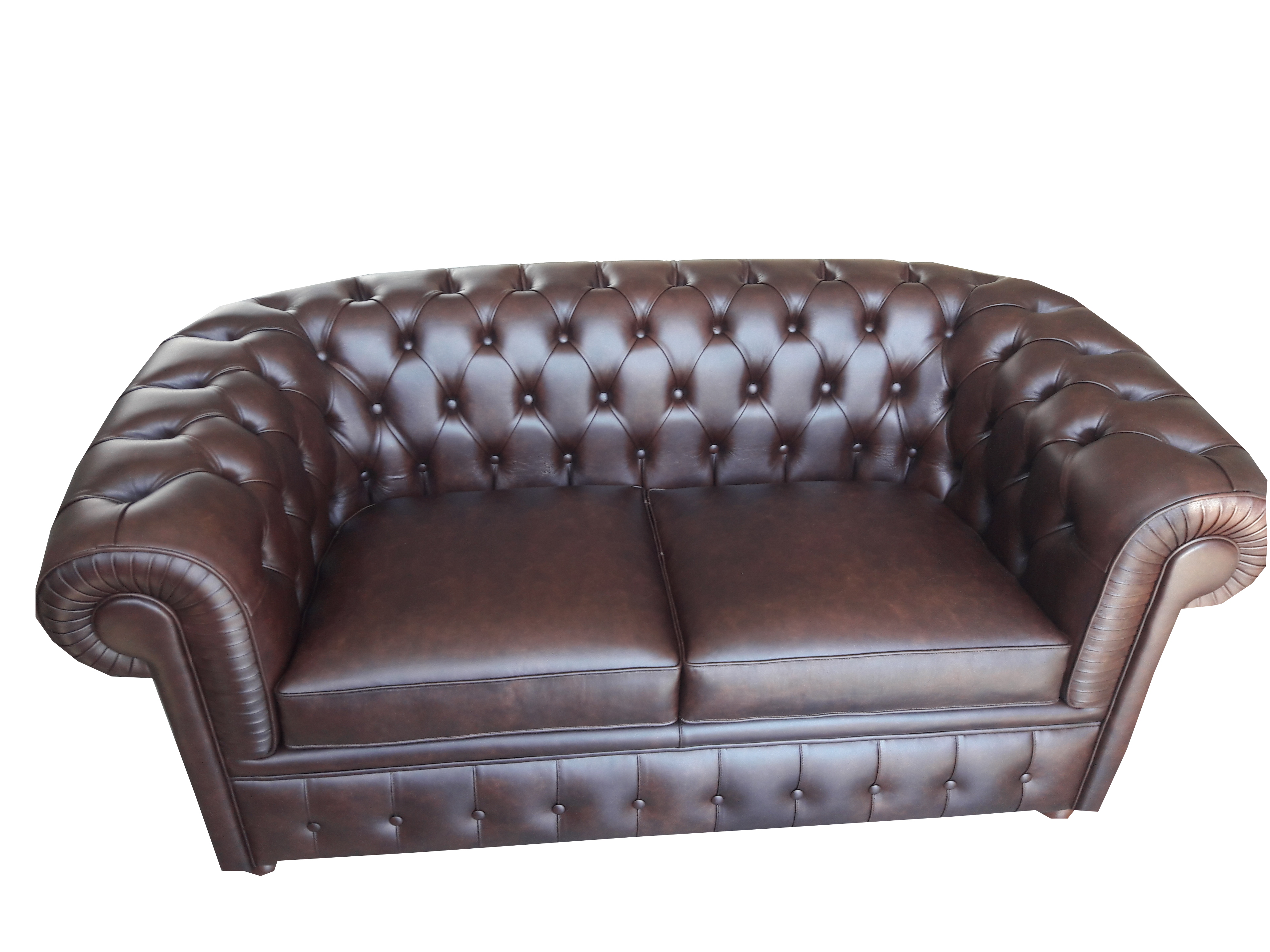 Divano chesterfield 2 posti cm 165x85 h cm 72 in vera pelle for Divano 2 posti amazon