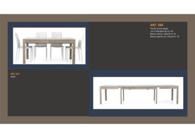 Tavolo in Rovere Grigio 1 Lunghezza e 4 allungamenti e Sedia abbinata