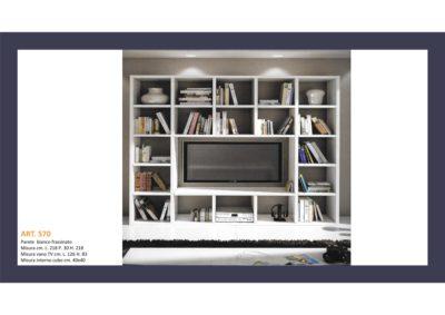 Mobile a Parete aperto a cubi Bianco Frassinato cm 261x218 P cm 30 Monteriggioni 48
