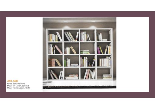 Mobile Libreria a Parete aperto a cubi Bianco Frassinato cm 261x218 P cm 30