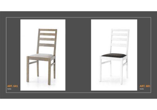 Coppia di sedie Linea Monteriggioni 53 in due modelli diversi