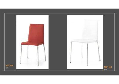 Coppia di sedie Linea Monteriggioni 56 in due modelli diversi