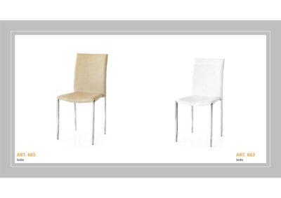 Coppia di sedie Linea Monteriggioni 58 in due modelli diversi
