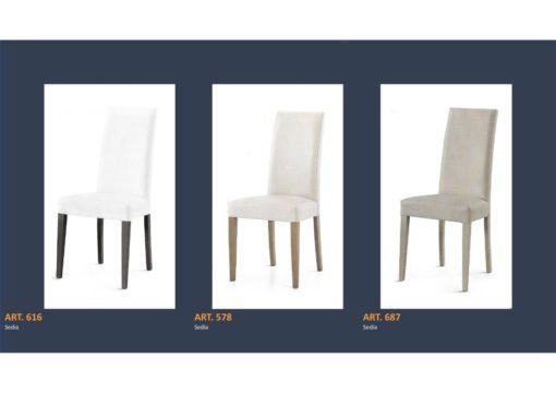 Coppia di sedie Linea Monteriggioni 62 in 3 modelli diversi