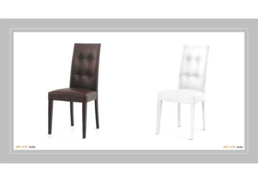 Coppia di sedie Linea Monteriggioni 63 in due modelli diversi
