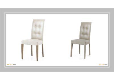 Coppia di sedie Linea Monteriggioni 64 in due modelli diversi
