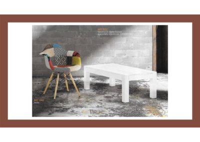 Set 2 pezzi= Tavolino in abete bianco + Sedia Arredo in stile Artigianato Toscano