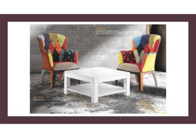Set 2 pezzi= Tavolino in abete bianco + Poltrona Arredo in stile Artigianato Toscano