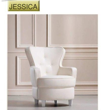 Poltrona Jessica cm 70x77 h cm 90 di produzione artigianale. Anche su misura. Realizzabile su tessuti indicati dal cliente.