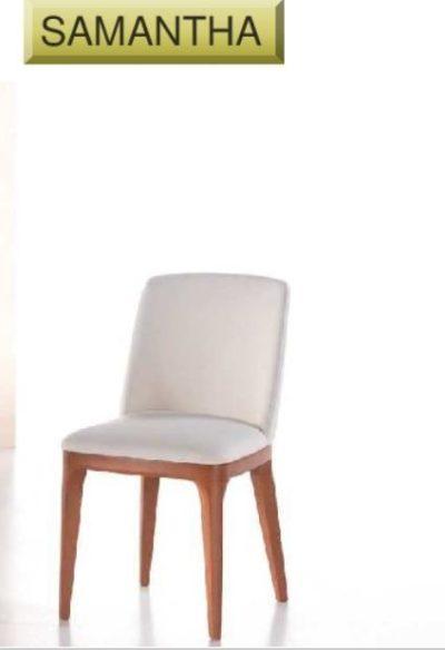 Sedia Samantha cm 55x48 h cm 86 di produzione artigianale. Anche su misura. Realizzabile su tessuti indicati dal cliente.