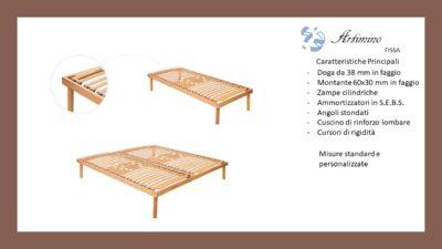 Rete Manuale in faggio per Letto 1 piazza e mezzo Anche su Misura Made in Italy