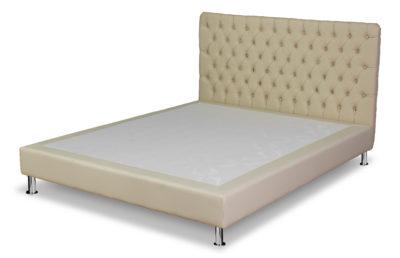 Testiera per letto 1 piazza e mezzo Lusso LEONARDO H 94/106 CM Ecopelle