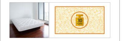 Materasso 1 piazza e mezzo Lusso 12 A H CM 12 certificato ignifugo per alberghi hotel comunità
