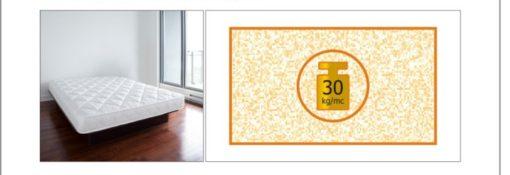 Materasso singolo Lusso 12 A H CM 12 certificato ignifugo per alberghi hotel comunità